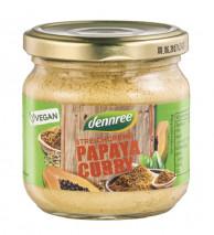 dennree, Streichcreme Papaya Curry, 180g Glas