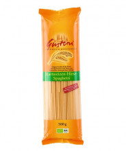 Gustoni, Hartweizen-Hirse Spaghetti, bronze, 500g Packung