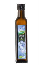 dennree, Leinöl, nativ, kalt gepresst, 0,25l Flasche