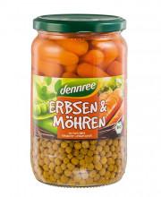 dennree, Erbsen & Möhren, 680g Glas