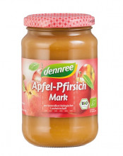 dennree, Apfel-Pfirsichmark, 360g Glas