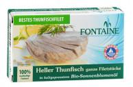 Fontaine, Heller Thunfisch in Bio-Sonnenblumenöl, 120g Dose (85g)