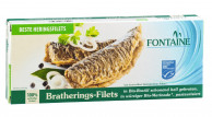 Fontaine, Bratherings-Filets in Bio-Marinade, 325g Dose (190g)