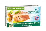 Fontaine, Thunfisch-Filet Echter Bonito in Bio-Olivenöl, 120g Dose (90g)