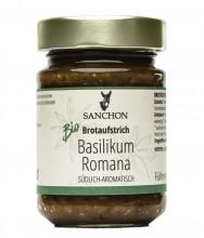 Sanchon, Basilikum Romana - würziger Brotaufstrich, 190g Glas