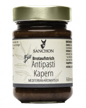 Sanchon, Antipasti Kapern, 190g Glas