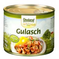 Ökoland, Gulasch ungarische Art, Fleischeinwaage 255g, 500g Dose #