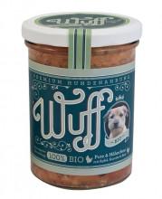 Wuff & Mau, Wuff Premium Hundefutter Pute & Hähnchen, 400g Glas