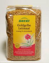 Davert, Leinsaat goldgelb, 500 g Packung