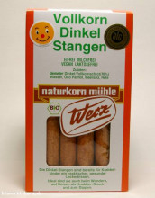 naturkorn mühle Werz, Dinkel-Vollkorn-Stangen, 125 g Packung