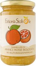 Fattoria Sicilsole, Blutorangen Marmelade, 370g Glas