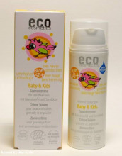 eco cosmetics, Baby & Kids Sonnencreme LSF 50+, mit Granatapfel & Sanddorn, 50ml Tube
