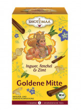 Shoti Maa, GOLDENE MITTE - Ingwer Fenchel, 2g, 16Btl Packung