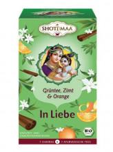 Shoti Maa, IN LIEBE - Grüntee Zimt Bergamotte, 1,8g, 16Btl Packung