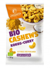 Landgarten, Bio-Cashews Kokos-Curry, 50g Beutel