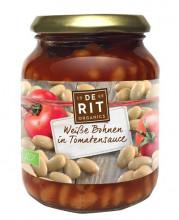 De Rit, Weiße Bohnen in Tomatensoße, 360g Glas