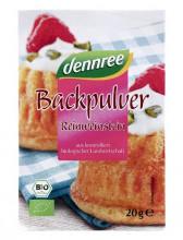 dennree, Backpulver, 4x20g Packung
