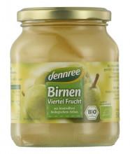 dennree, Birnen, viertel Frucht, 350g Glas