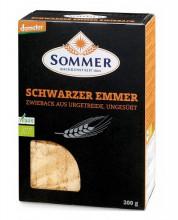 Sommer & Co., Schwarzer Emmer Zwieback, demeter, 200g Packung