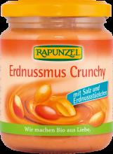 Rapunzel, Erdnussmus Crunchy mit Salz, 500g Glas