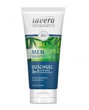 Lavera, Men Sensitiv, Duschgel 3in1, 200ml Tube