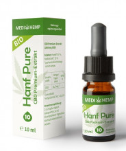 Medi Hemp, Bio Hanf Pure Öl 10%, 10ml Flasche