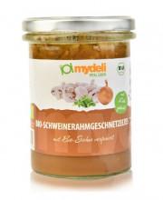 MyDeli, Bio- Schweinerahm Geschnetzeltes, 370g Glas
