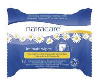 Natracare, Intimpflegetücher aus biologicher Baumwolle, 12 Stück Packung