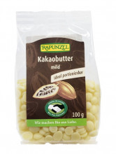 Rapunzel, Kakaobutter mild, 100g Packung