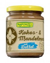 Rapunzel, Kokos- & Mandelmus mit Dattel, 250g Glas