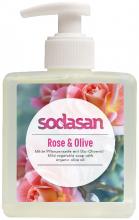 Sodasan, Naturpflege-Seife Liquid, Rose-Olive, flüssig, 300ml Flasche