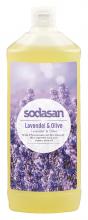 Sodasan, Naturpflege-Seife Liquid, Lavendel-Olive, flüssig, Nachfüllpack, 1l Flasche