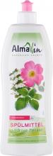 AlmaWin, Spülmittel Wildrose-Melisse, 1L Flasche