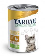 Yarrah, Katzenfutter Bröckchen Huhn, 405g Dose