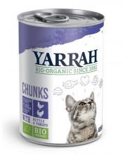 Yarrah, Katzenfutter Bröckchen Huhn und Truthahn, 405g Dose
