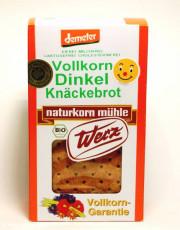 naturkorn mühle Werz, Vollkorn Dinkel Knäckebrot, lactosefrei, 150g Packung