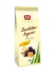 Rosengarten, Ingwer in Zartbitterschokolade, 80g Packung