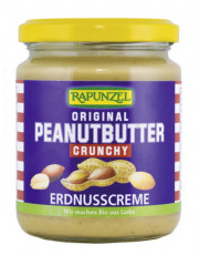 Rapunzel, Crunchy Peanutbutter, 250g Glas