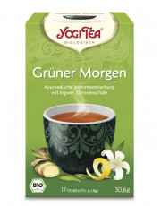 Golden Temple, Yogi Tea Grüner Morgen Tee, 1,8g, 17 Btl Packung