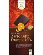 Gepa, Grand Noir Orange Zartbitterschokolade, 70% Kakao, 100g Tafel