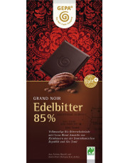 Gepa, Grand Noir Edelbitter Schokolade, 85% Kakao, 100g Tafel