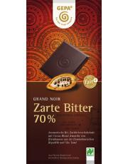 Gepa, Grand Noir Zartbitterschokolade, 70% Kakao, 100g Tafel