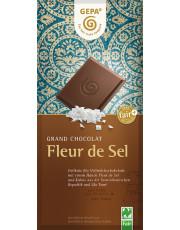 Gepa, Fleur de Sel, Feine Vollmilch, 37% Kakao, 100g Tafel