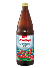 Voelkel, Cranberry pur, 100% Muttersaft, 0,75l incl. 0,15 EUR Pfand, Flasche
