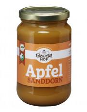 Bauckhof, Apfel-Sanddorn-Mus, mit Apfeldicksaft, 360g Glas