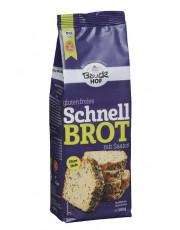 Bauckhof, Schnellbrot mit Saaten, glutenfrei, ohne Hefe, 500g Packung