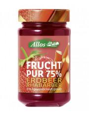 Allos, Frucht pur 75% Erdbeer Rhabarber, 250g Glas