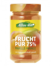 Allos, Frucht pur 75% Marille-Mango, 250g Glas