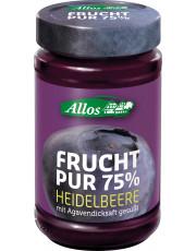 Allos, Frucht pur 75% Heidelbeere, 250g Glas