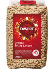 Davert, Braune Teller-Linsen, 500g Packung